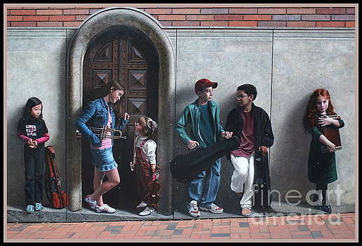 The Music Lesson - Public Art Mural by Dora Sofia Caputo Photographic Art and Design