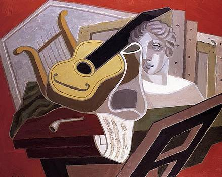 The Musician Table 1926 by Gris Juan