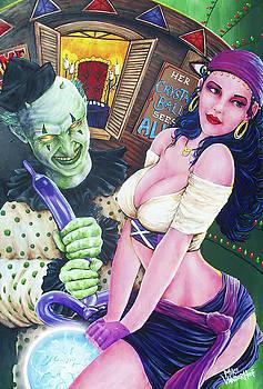 The Mystical Madam Mina and Tosso the Payaso by Michael Vanderhoof