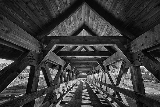 The Naperville Wooden Bridge by Zouhair Lhaloui
