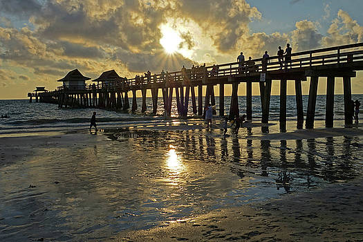 Toby McGuire - Naples pier at sunset Naples Florida Ripples