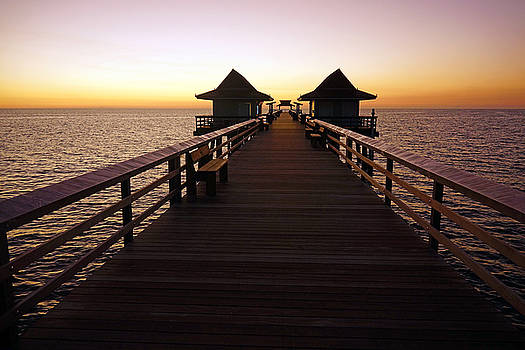 The Naples Pier at Twilight - 01 by Robb Stan