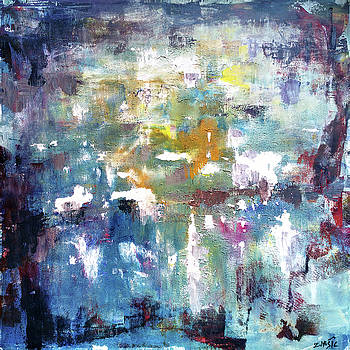 The need for existence, abstract art painting by Zlatko Music
