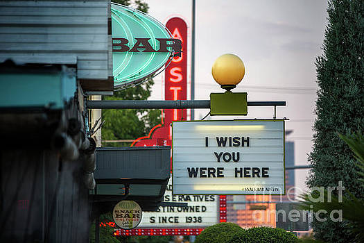 Herronstock Prints - The neon signage of South Congress Avenue features a hip strip of eclectic shops hotels restaurants boutiques antiques music venues and galleries