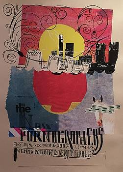 The New Pornographers 2007 Concert Poster by Aesthetic Apparatus