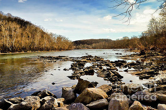 The New River at Whitt Riverbend Park - Giles County Virginia by Kerri Farley