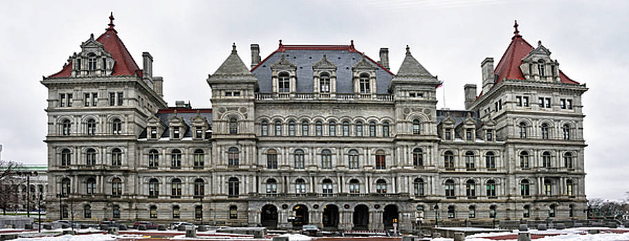 The New York State Capitol in Albany New York by Brendan Reals