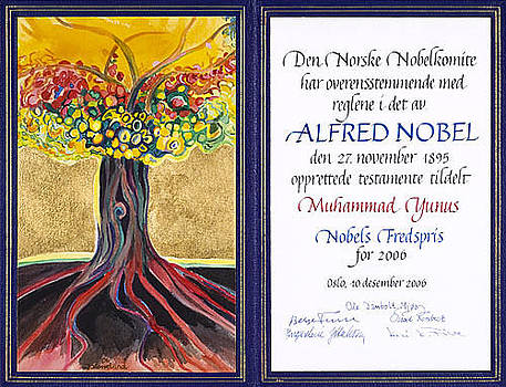 The Nobel Peace Price Diploma 2006 by Jarle Rosseland
