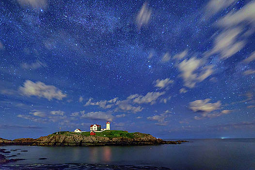 The Nubble Under the Stars by Rick Berk
