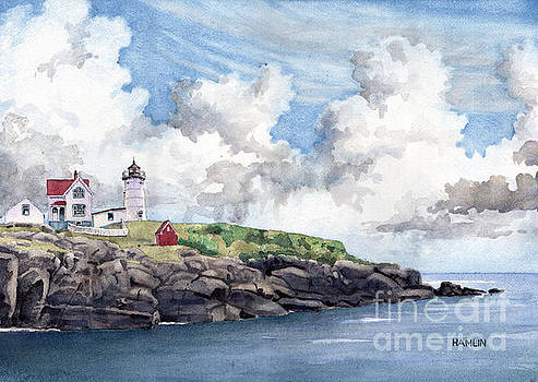 The Nubble - York Maine by Steve Hamlin