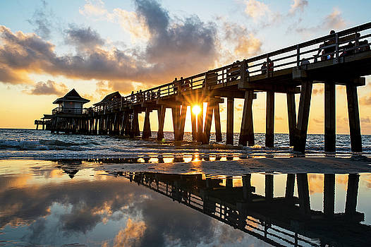 Naples pier at sunset Naples Florida by Toby McGuire