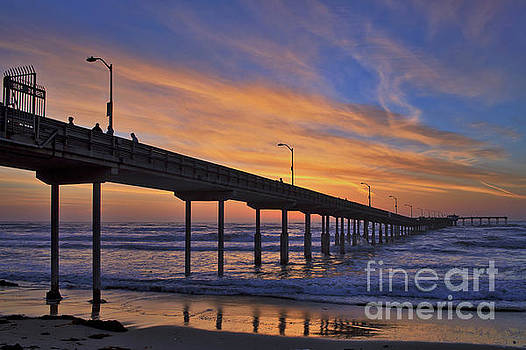 The Ocean Beach Pier under a Colorful Sunset by Sam Antonio Photography
