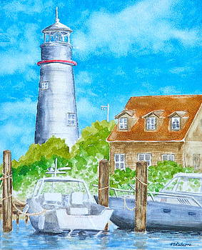 The Ocracoke Light by Vic Delnore