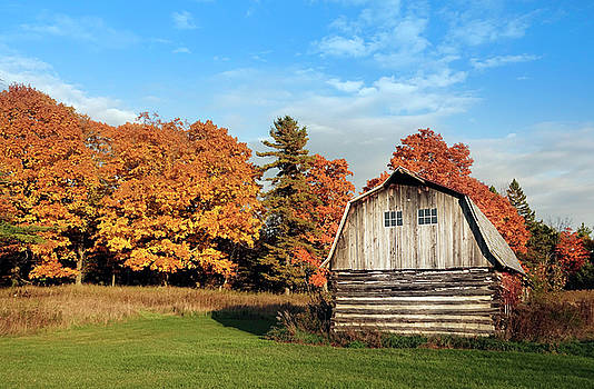 The Old Barn in Autumn by Heidi Hermes