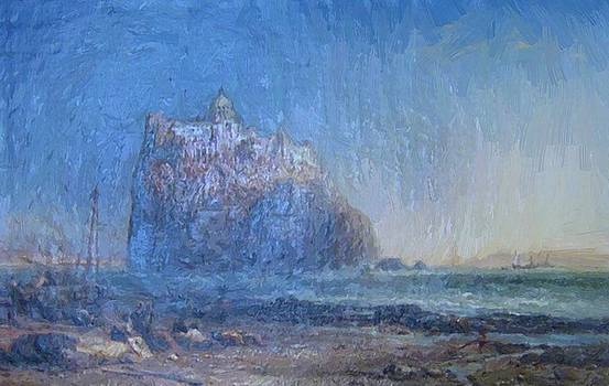 Webb James - The Old Castle Overlooking The Bay Of Naples Italy 1875