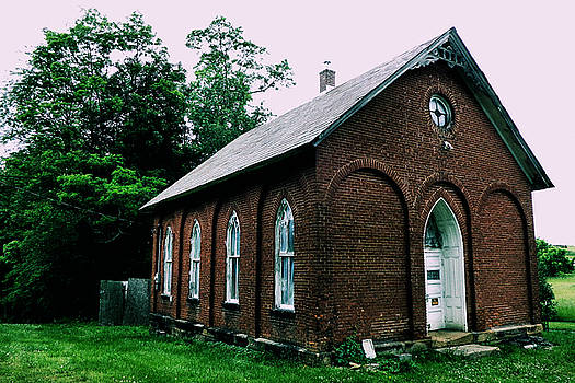 The Old Church At Freeport by Kathy K McClellan