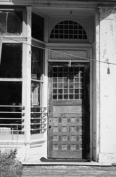The Old Door At Port Costa B and W by Joyce Dickens