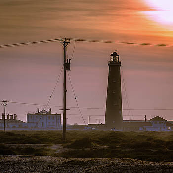 The Old Lighthouse, Dungeness Beach by Perry Rodriguez