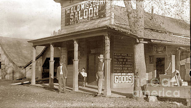 California Views Archives Mr Pat Hathaway Archives - The Old Mission Saloon Maj. Darnold Prop.  Circa 1900