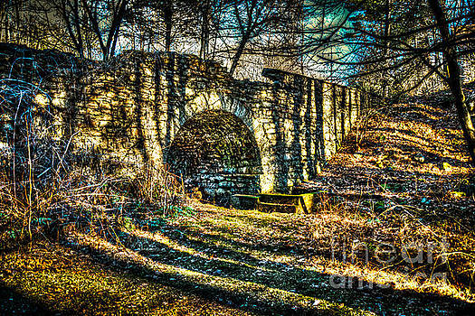 The Old Ross Common Stone Bridge by Eric Geschwindner