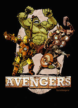 The Old Time-y Avengers by Brian Kesinger