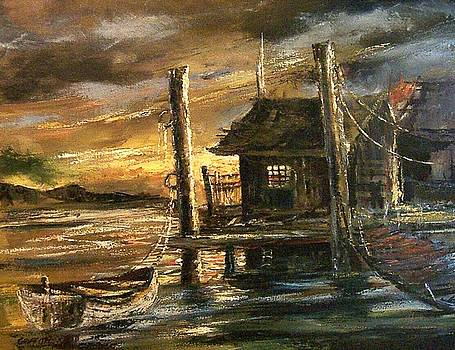 The old Wharf by Don Griffiths