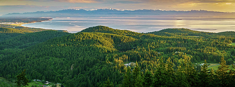 The Olympics from Mt Erie by Ken Stanback