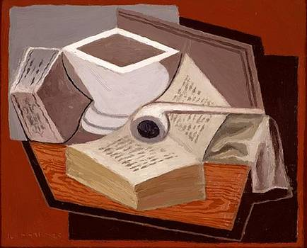 The Open Book 1925 by Gris Juan