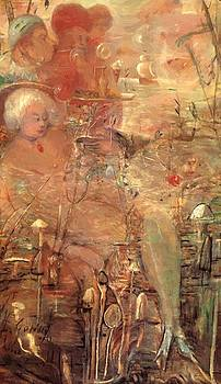 The Opium Smoker Dream 1918 by Gulacsy Lajos