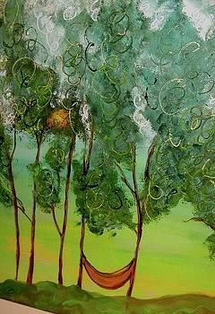 The orange hammock by Kathy Othon