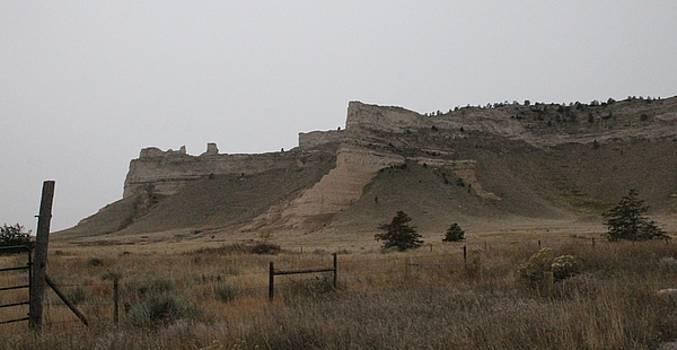 The Oregon Trail Scotts Bluff Nebraska by Christopher Kirby
