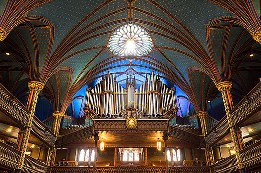 The Organ Inside The Notre Dame In Montreal by For Ninety One Days