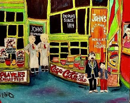 The Original John's Restaurant St. Henri by Michael Litvack