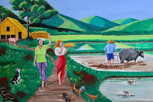 The Other Side Of One Beautiful Morning In The Farm by Lorna Maza