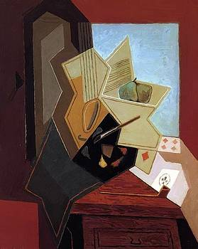The Painter Window 1925 by Gris Juan