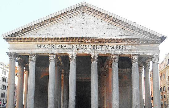 The Pantheon Rome Italy by Irina Sztukowski