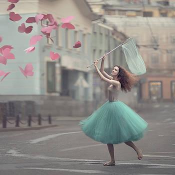 The Paper Butterflies Catcher by Anka Zhuravleva