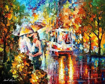 The Passion - PALETTE KNIFE Oil Painting On Canvas By Leonid Afremov by Leonid Afremov