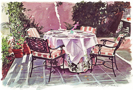 The Patio - Hotel Bel-air  by David Lloyd Glover