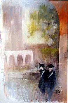 The Patrol in Pomezia by Elisabeth Nussy Denzler von Botha