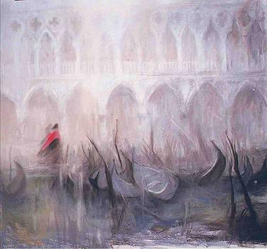 The Patrol in Venice by Elisabeth Nussy Denzler von Botha