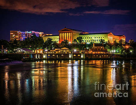 The Philadelphia Art Museum at Night by Nick Zelinsky
