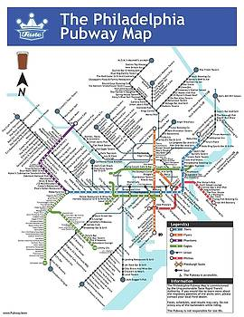 The Philadelphia Pubway Map by Unquestionable Taste