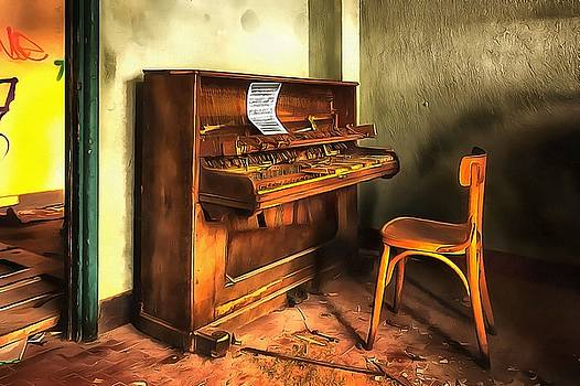 Enrico Pelos - THE PIANO paint