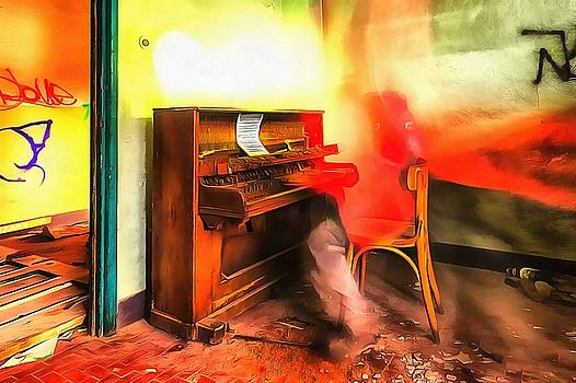 Enrico Pelos - THE PIANO PLAYER paint