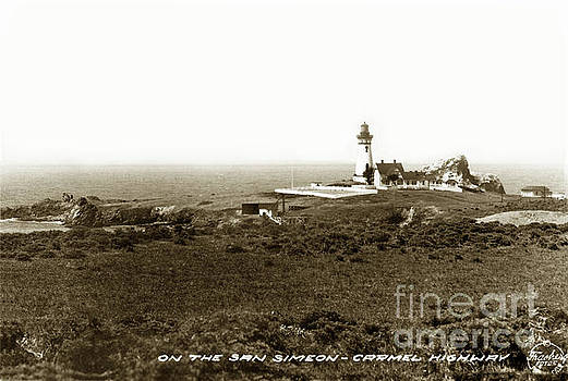 The Piedras Blancas Lighthouse Circa 1932 by California Views Mr Pat Hathaway Archives
