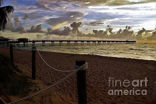 the pier at Dania Beach by Chuck Hicks