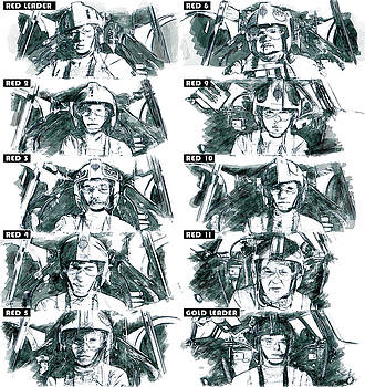 The Pilots of the Battle of Yavin  by Kurt Ramschissel