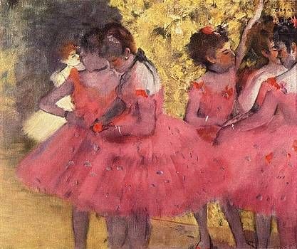 Degas - The Pink Dancers Before The Ballet