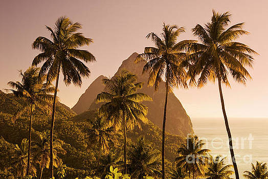 The Pitons, St Lucia, Caribbean by Justin Foulkes